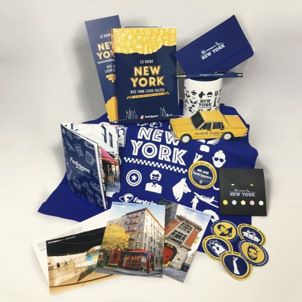 Pack Fantrippers 100% New York guide + goodies