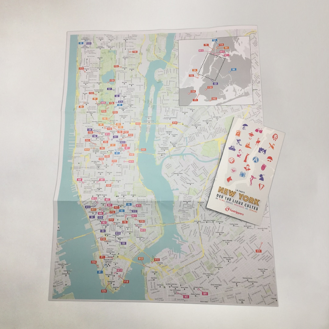 Pack Fanspots Stories NEW YORK + guide + carte + tote bag
