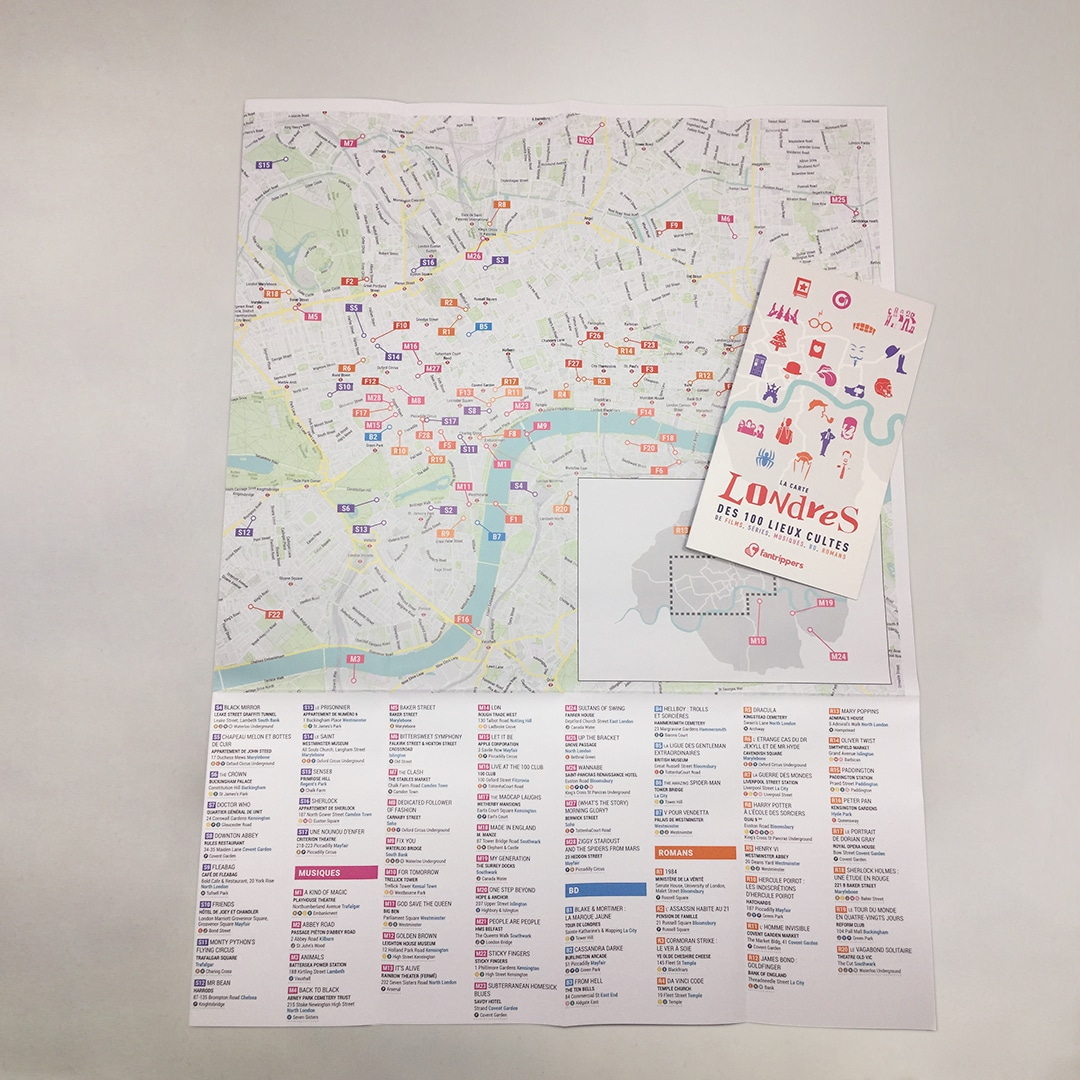 Pack Fanspots Stories Londres + guide + carte + tote bag